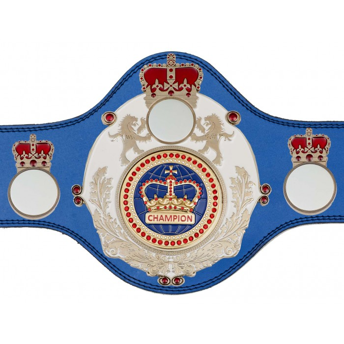 CHAMPIONSHIP BELT - PLTQUEEN/W/S/BLUGEM - AVAILABLE IN 4 COLOURS
